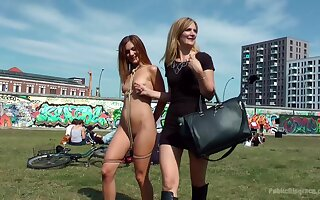 Horny Mona Wales loves everything about humiliation in public