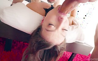 Pretty hot and alluring girlfriend Izzy Lush gives a super sensual blowjob