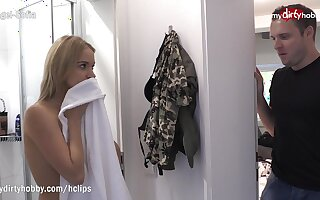 MyDirtyHobby - Brother caught spying on Step sister while showering