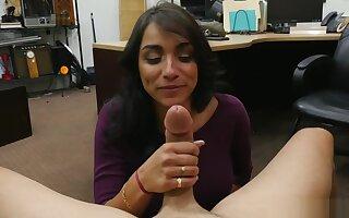 XXX Pawn Shop - Busty Latina Gets White Anaconda