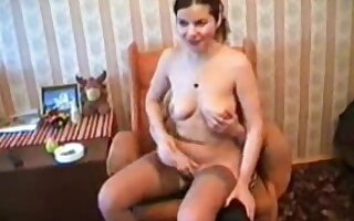 amateur russian mom and young boy