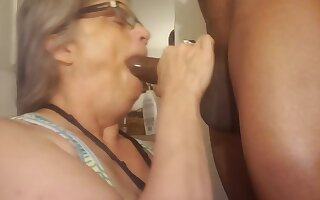 throat fucking mature woman