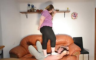 Trampling bbw heavy amazon trample