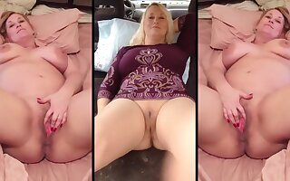 Real Stepmom - Cheryl Spreads Her Cunt For the Internet - Compilation