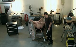 Horny man ass fucks obedient slave girl in brutal BDSM