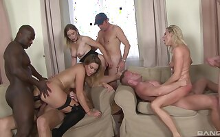 Naked MILFs in one of the craziest group fuck they ever had