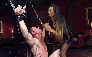 Dominant Asian whore fucks her male slave in brutal XXX scenes