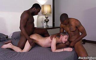 Black fetish in dirty gay threesome
