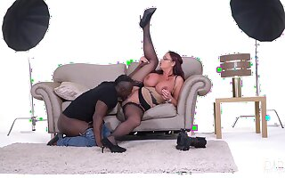 Big black dick tastes good to this cocksucking milf