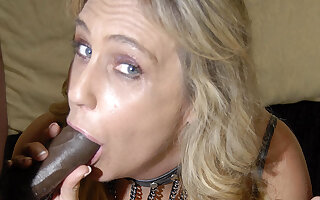 This blonde mama needs black cocks