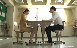 Incongruous fucking vulnerable the table and dumfound with nice tits Yuna Ema