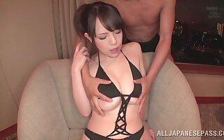 Handsome Japanese model Koyomi Yukihira gets fucked by a lucky suppliant
