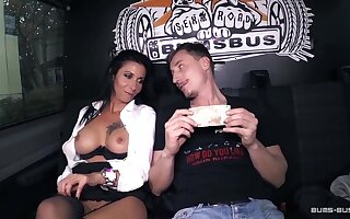 BumsBus - Grown up German gets plowed in the backseat of a crammer