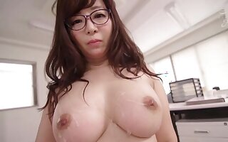 Disobedient mollycoddle Kaori doesn't need more than a friend's long cock
