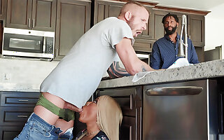 Hubby's unite with enjoyed all over bang arse black