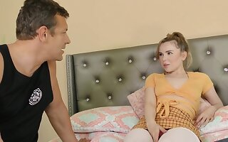 Pretty cock sucker, Alina West had wild sex with a married man from the neighborhood